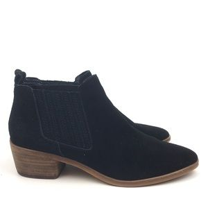 Dolce vita black suede Chelsea ankle boot bootie